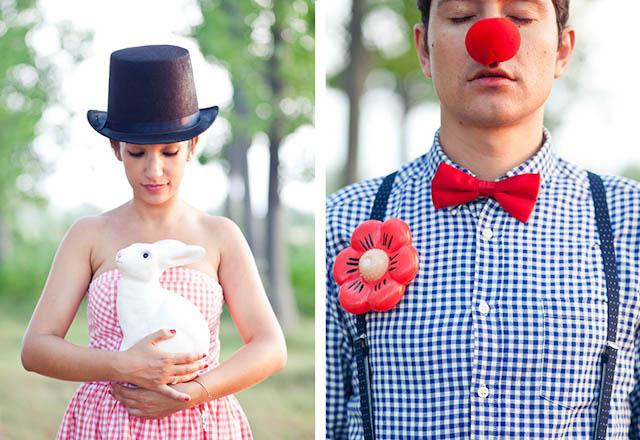 circo mundo vintage shooting preboda ideas payasos