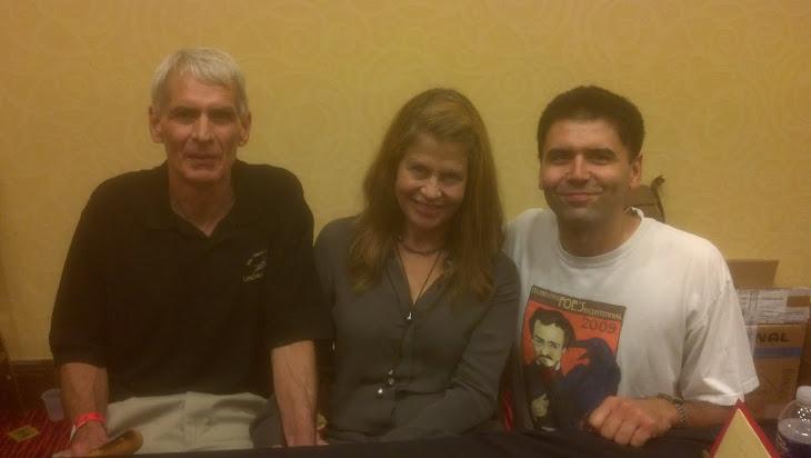 Me, Dad, & Linda Hamilton