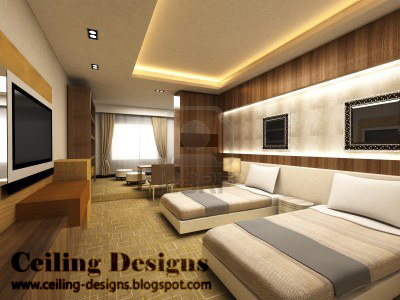 simple false ceiling designs for bedrooms with side hidden lights