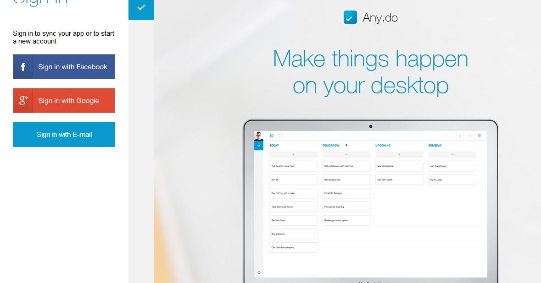 Any.Do 推出網頁版,把待辦清單變成好整理的便利貼牆