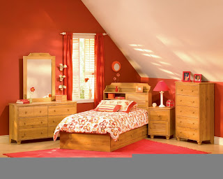 Small Kid Bedroom Wood Furniture Design