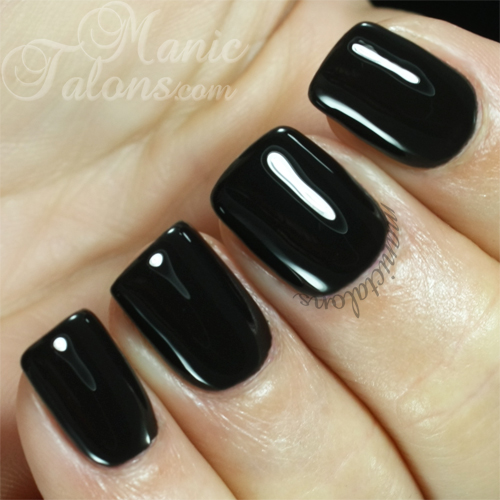 Madam Glam Gel Polish Perfect Black Swatch