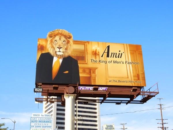 Amir King mens fashion lion billboard