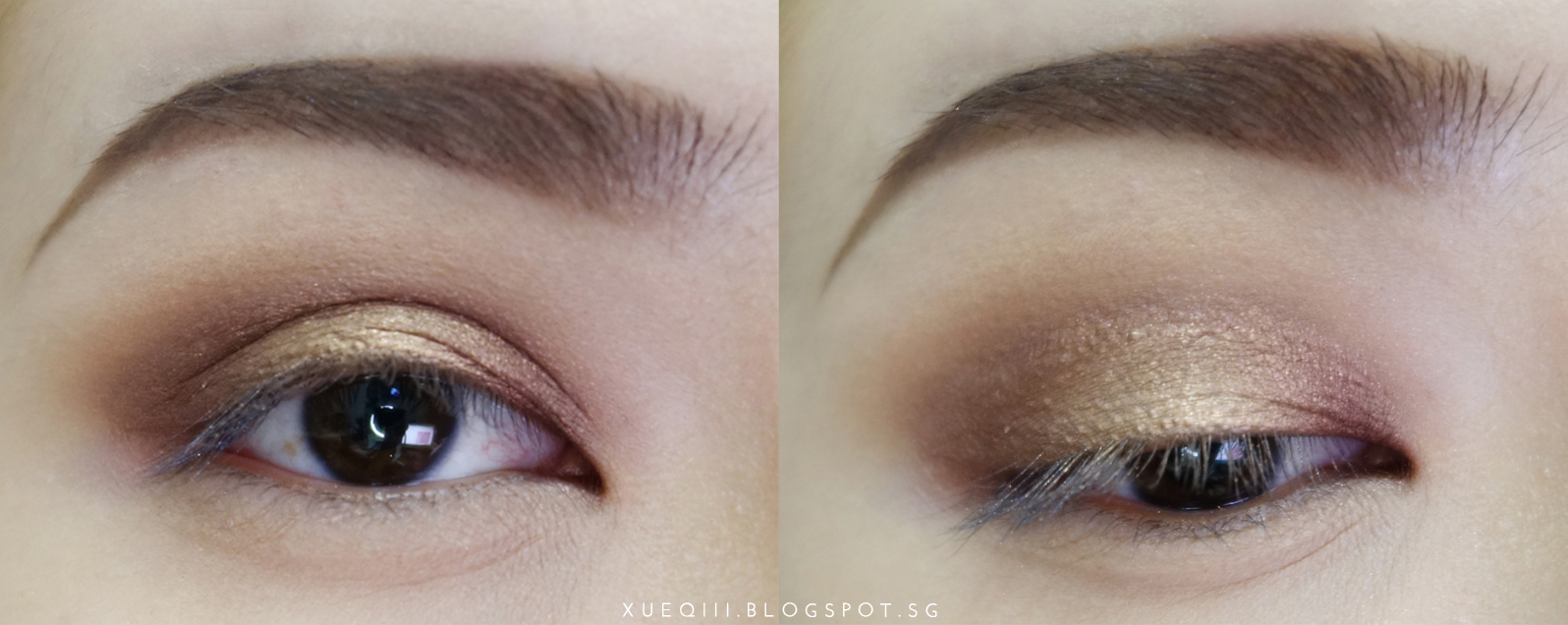 Warm brown and golden makeup look ft too faced chocolate bar anastasia dipbrow pomade dark brown etude house color my brows baditri Images