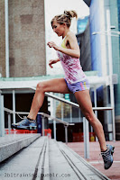 Jogging  girl calves