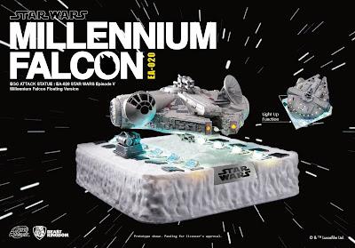 Il Millennium Falcon a lievitazione magnetica della Beast Kingdom