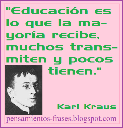 frases de Karl Kraus