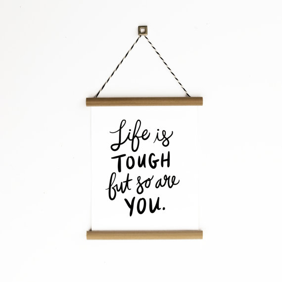 Life is Tough Canvas Banner by littlelow on Etsy