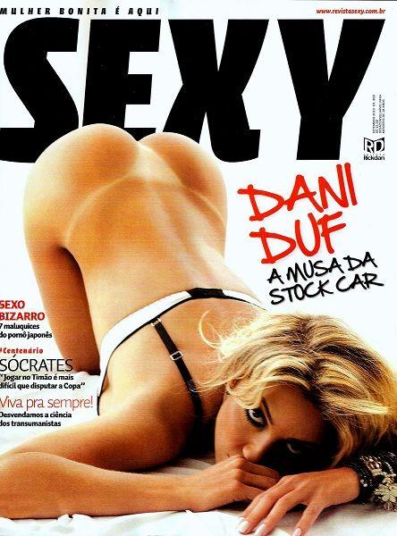 Confira as fotos da musa da Stock Car, Dani Duf, capa da Sexy de setembro de 2010!