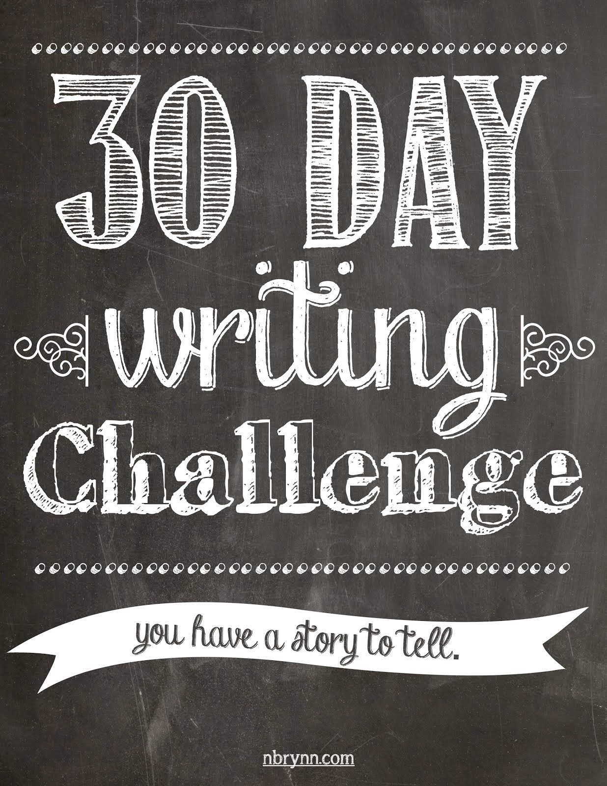 30 Day Writing Challenge List 30 Day Writing Challenge