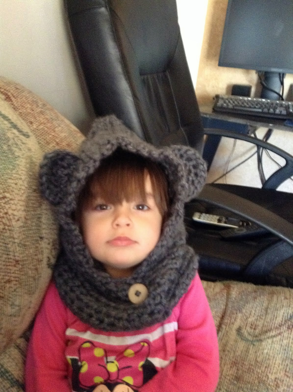 Mouse hooded cowl sz 2T