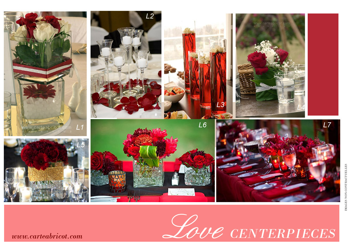 red and white decoration symbolizes love: bouquets of red roses as ...