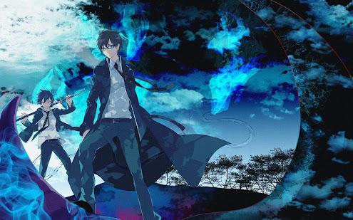 ao no exorcist yukio rin okumura anime hd wallpaper 1920x1200