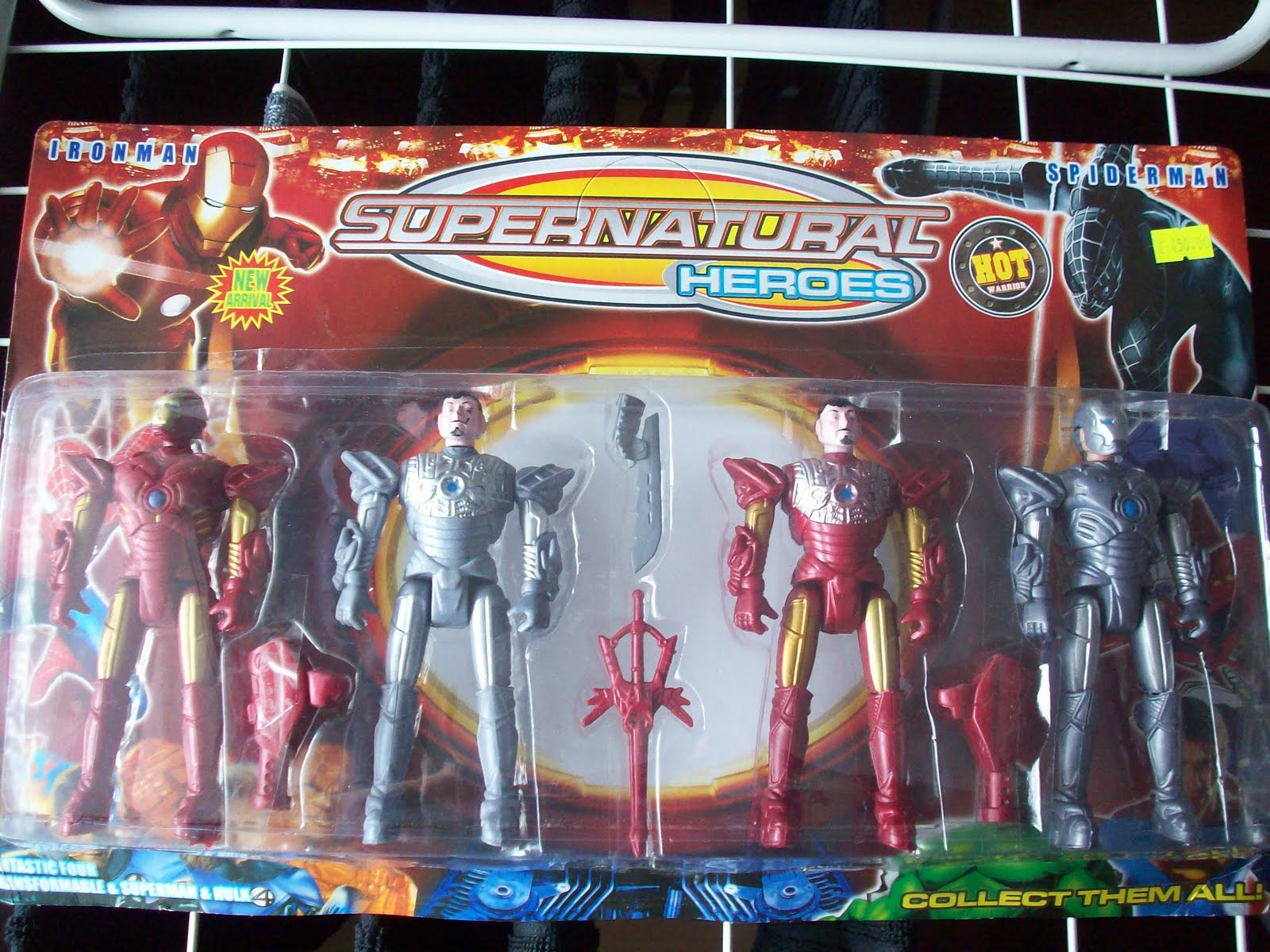 i found these absolutely craptastic iron man bootleg figures at a kiosk inside the leningradskaya railway station fifteen minutes before we left back to bootleg iron man 2 starring
