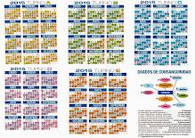 CALENDARIOS 2015- 5 TURNOS