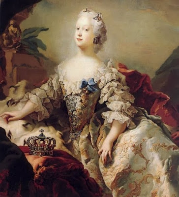 Queen Louise of Denmark in her Coronation Robes by Carl Gustaf Pilo, 1747