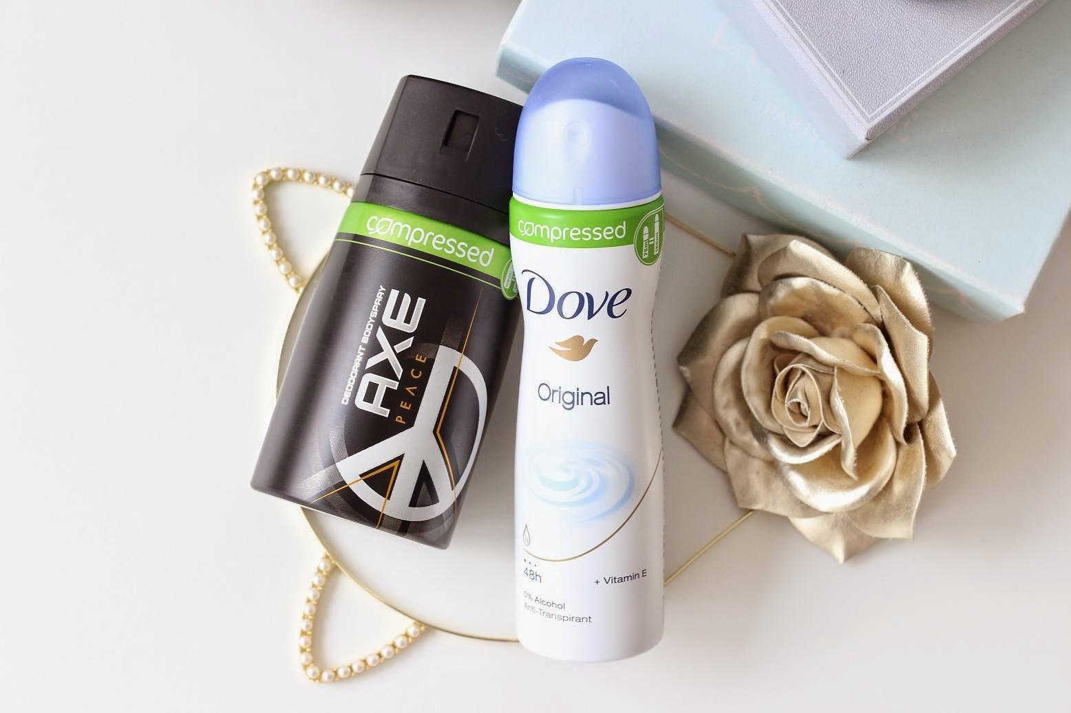 Compressed deodorants
