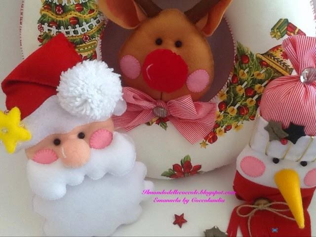 Ghirlanda,Natale, feltro, pannolenci ,handmade