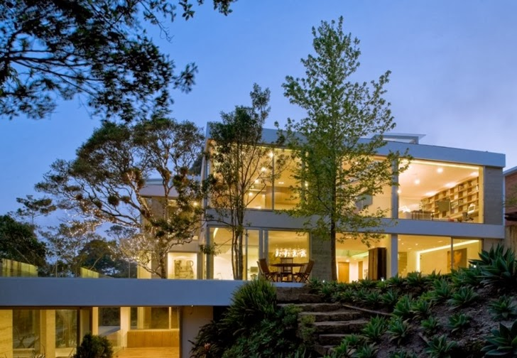 Lights of Modern dream home by Paz Arquitectura