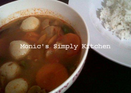 Sup tom yam non seafood