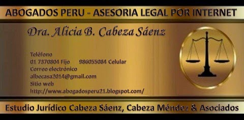 ABOGADOS PERU - ASESORIA LEGAL POR INTERNET