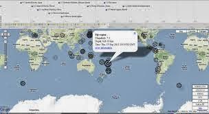 Mappa dinamica Terremoti