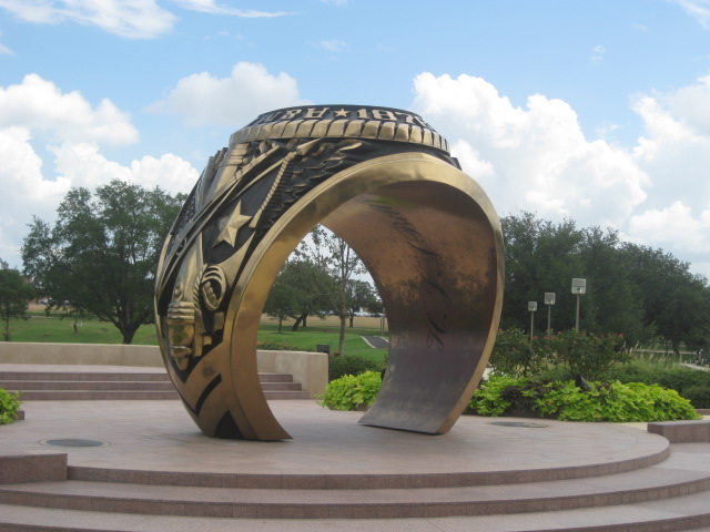 The Aggie Ring Statue