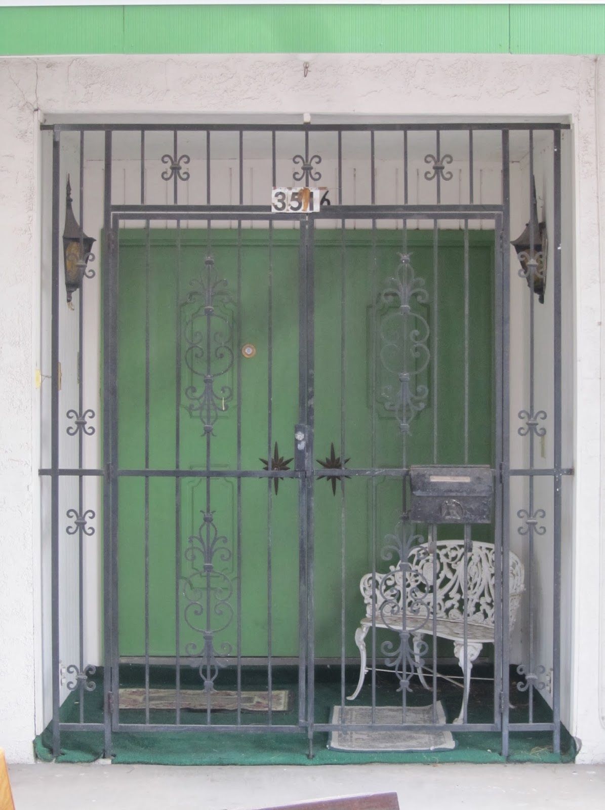 Iron double front doors las vegas - Flat Paneled Double Doors With Starburst Escutcheons On A Custom Paradise Palms Home