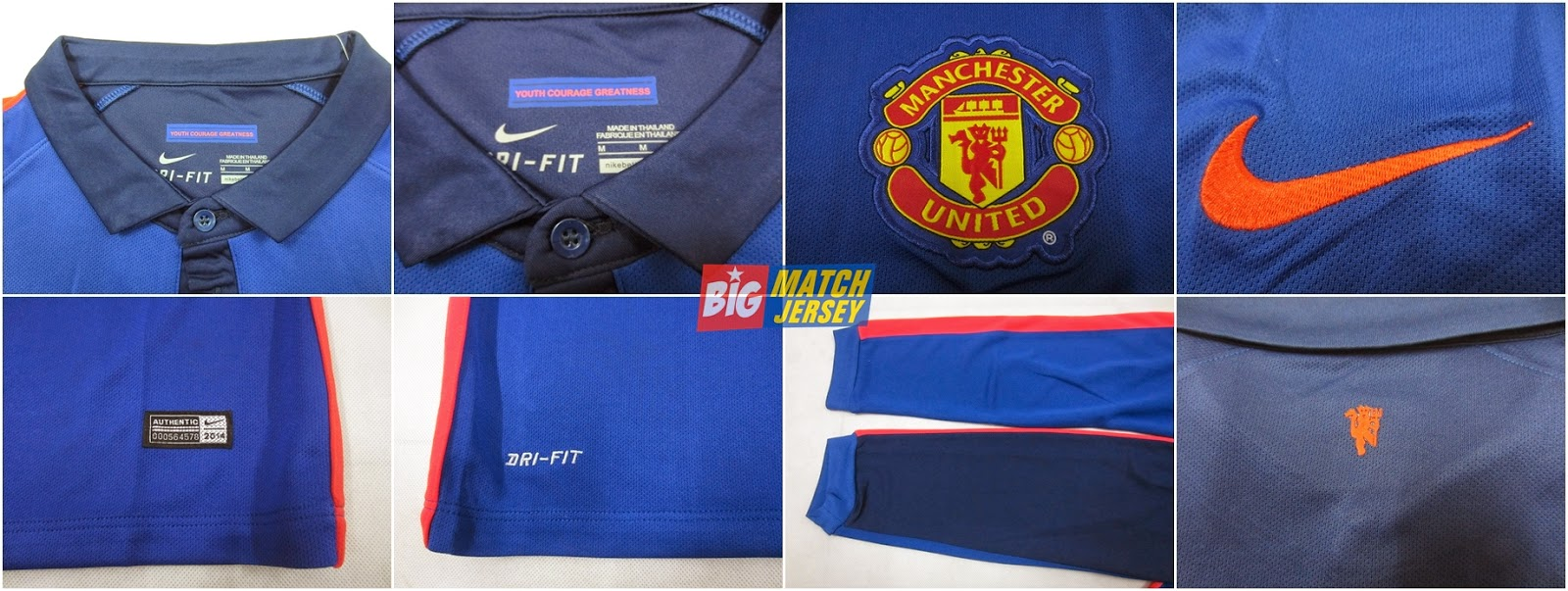 Detail Jersey GO Manchester United Longsleeve Third Official 2014-2015
