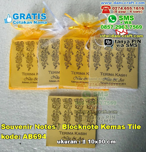 Souvenir Notes Blocknote Kemas Tile