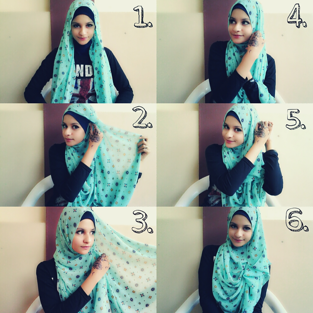 How to make drapery hijab style | Nabila Abdat