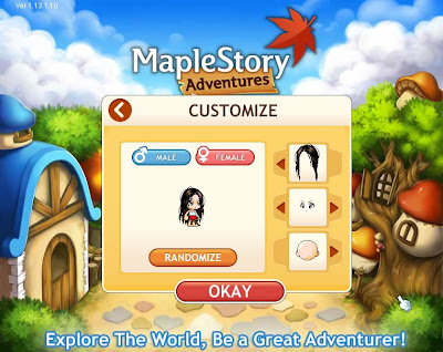 MapleStory Adventures - Character Customization