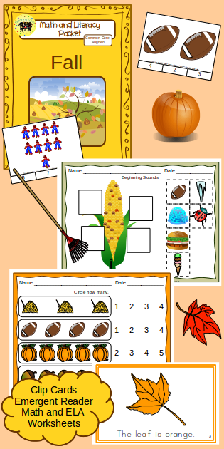 http://www.teacherspayteachers.com/Product/Fall-Math-and-Literacy-Packet-1261349