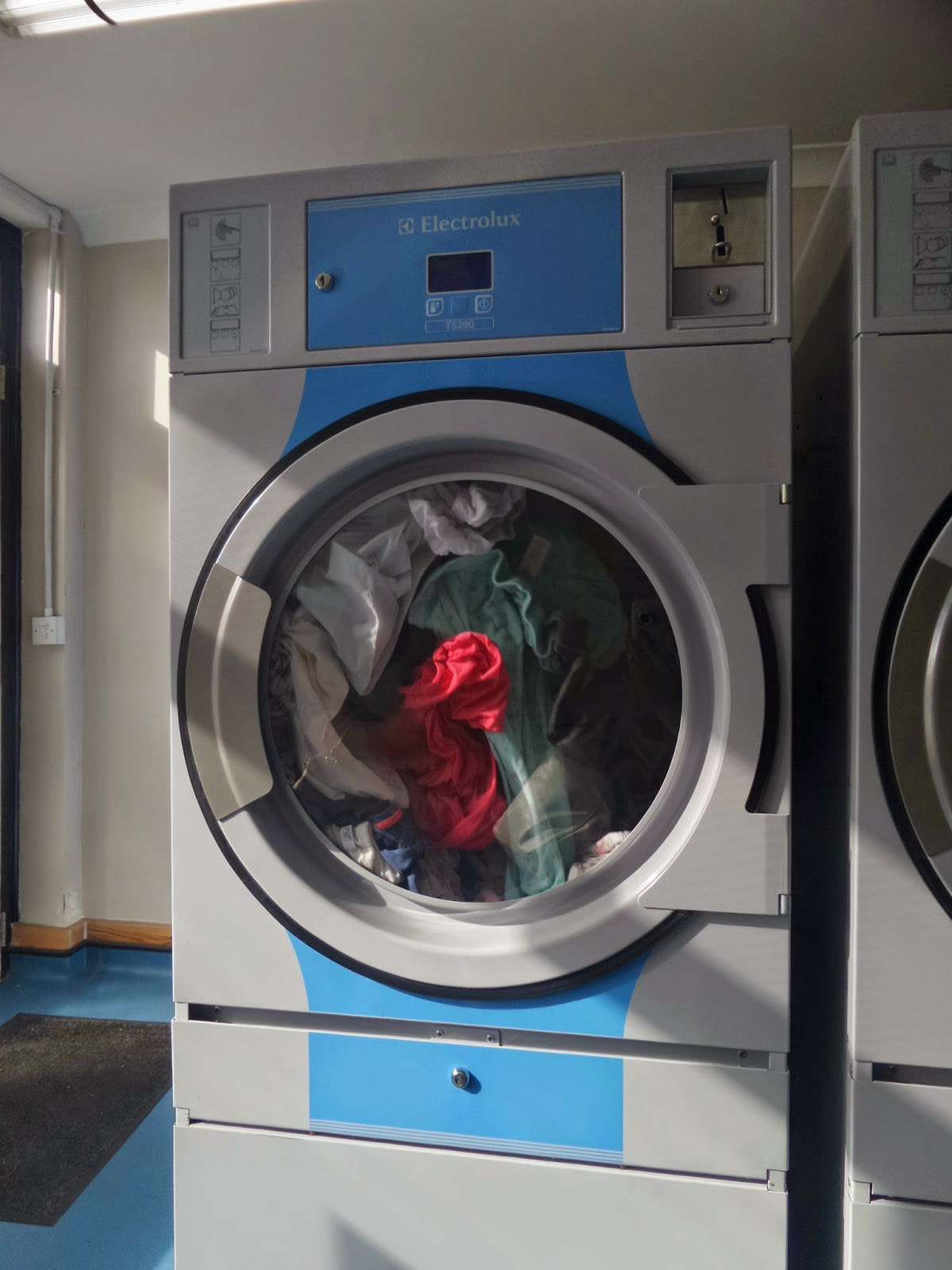 Washing in the Launderette Machine