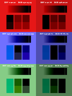 Color Pattern; Small Blocks on Top; Mode Subtract