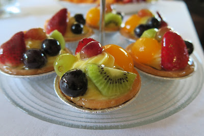 High tea fruit flans