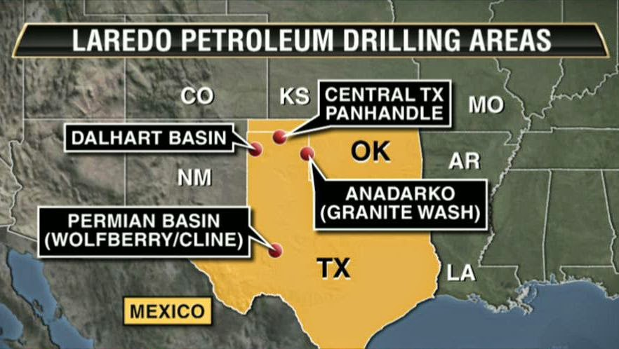 Laredo Petroleum drilling area map