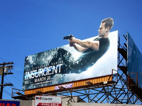 Theo James Insurgent Four special extension billboard
