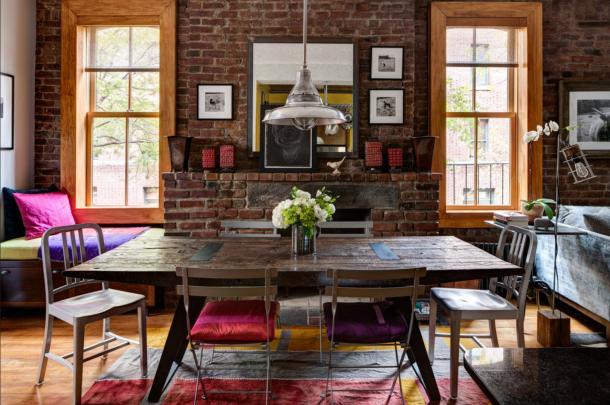 Cool chic style attitude interiors rustic apartment for New york interiors
