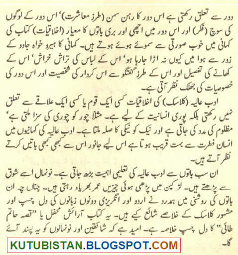 Preface of Qissa Hatim Tai Urdu Book