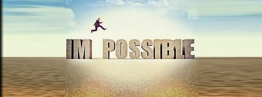 Une jolie couverture facebook avec le mot possible