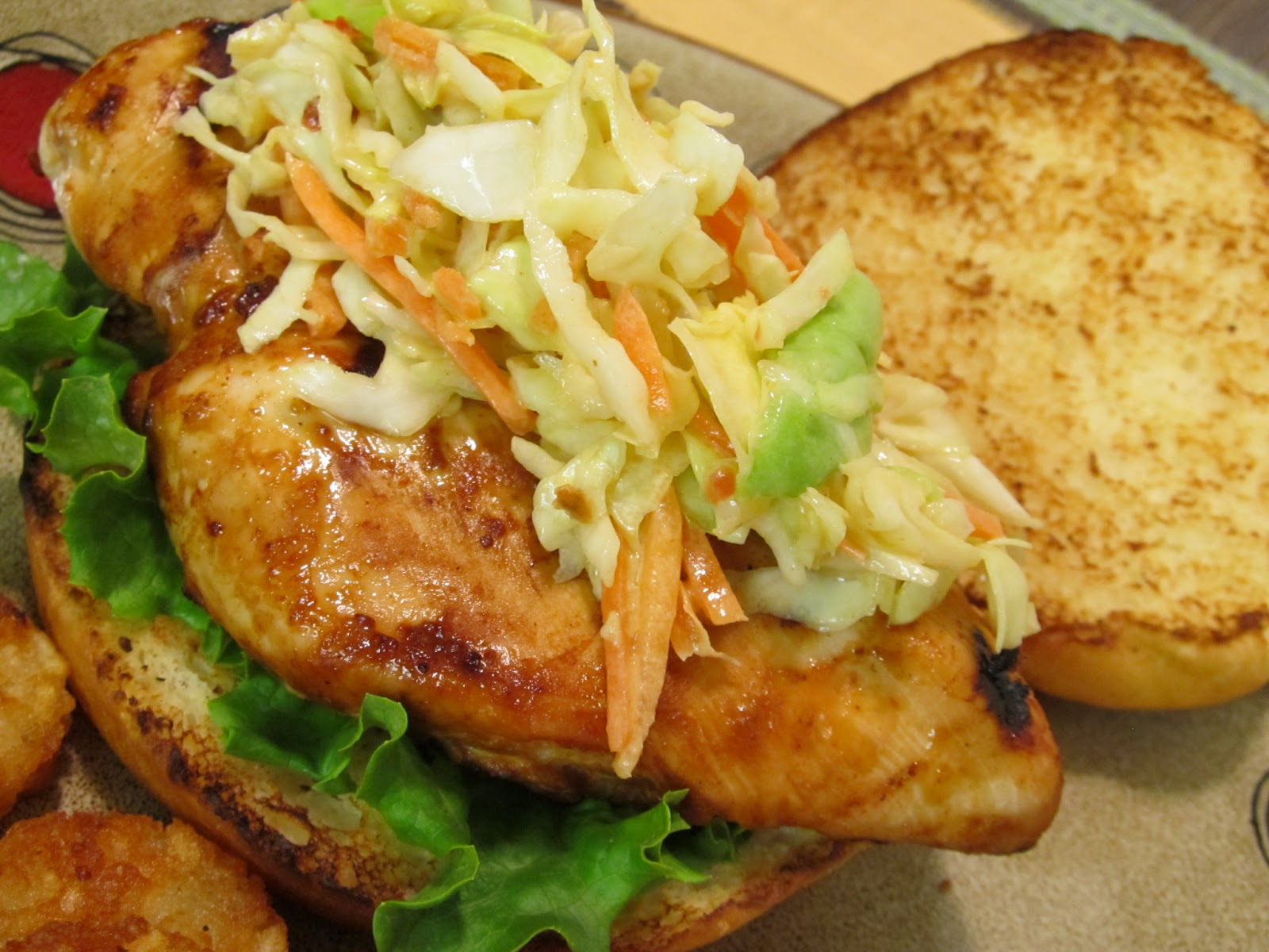 Grilled Asian Chicken Sandwich with Slaw