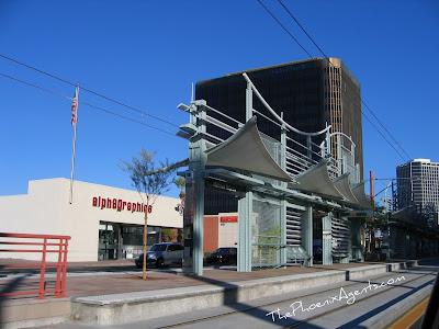 light rail station in midtown phoenix