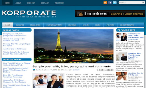 Korporate Blogger Template