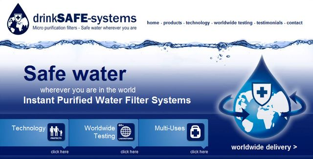 Drinksafe-systems use a patented filter