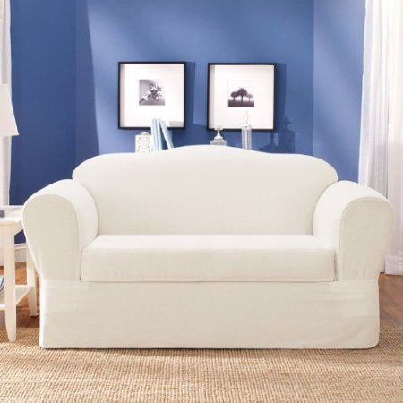 Discount slip covers images frompo 1 White loveseat slipcovers