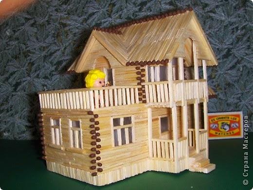 Поделка домик своими руками из спичек