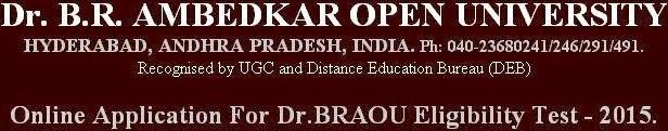 BRAOU degree B.A., B.Com and B.Sc admissions