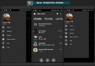 BBM Windows Phone Dark Grey v2.10.0.35 Apk