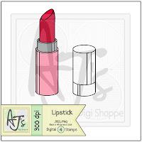 Lipstick Digital Stamp